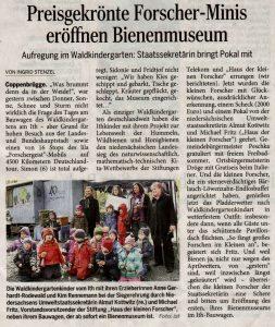 20160427_DWZ-Preisgekrönte Forscher-Minis eröffnen Bienenmuseum